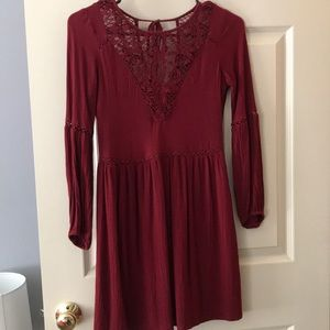 Unique red dress from American Eagle!
